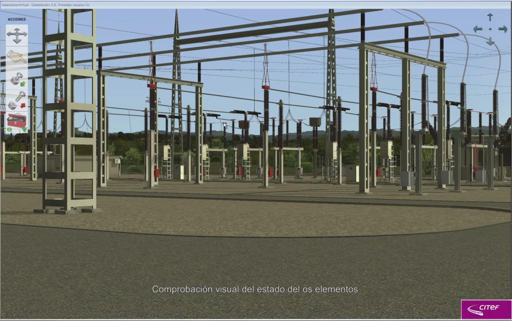 Simulador de subestación eléctrica para Red Eléctrica de España