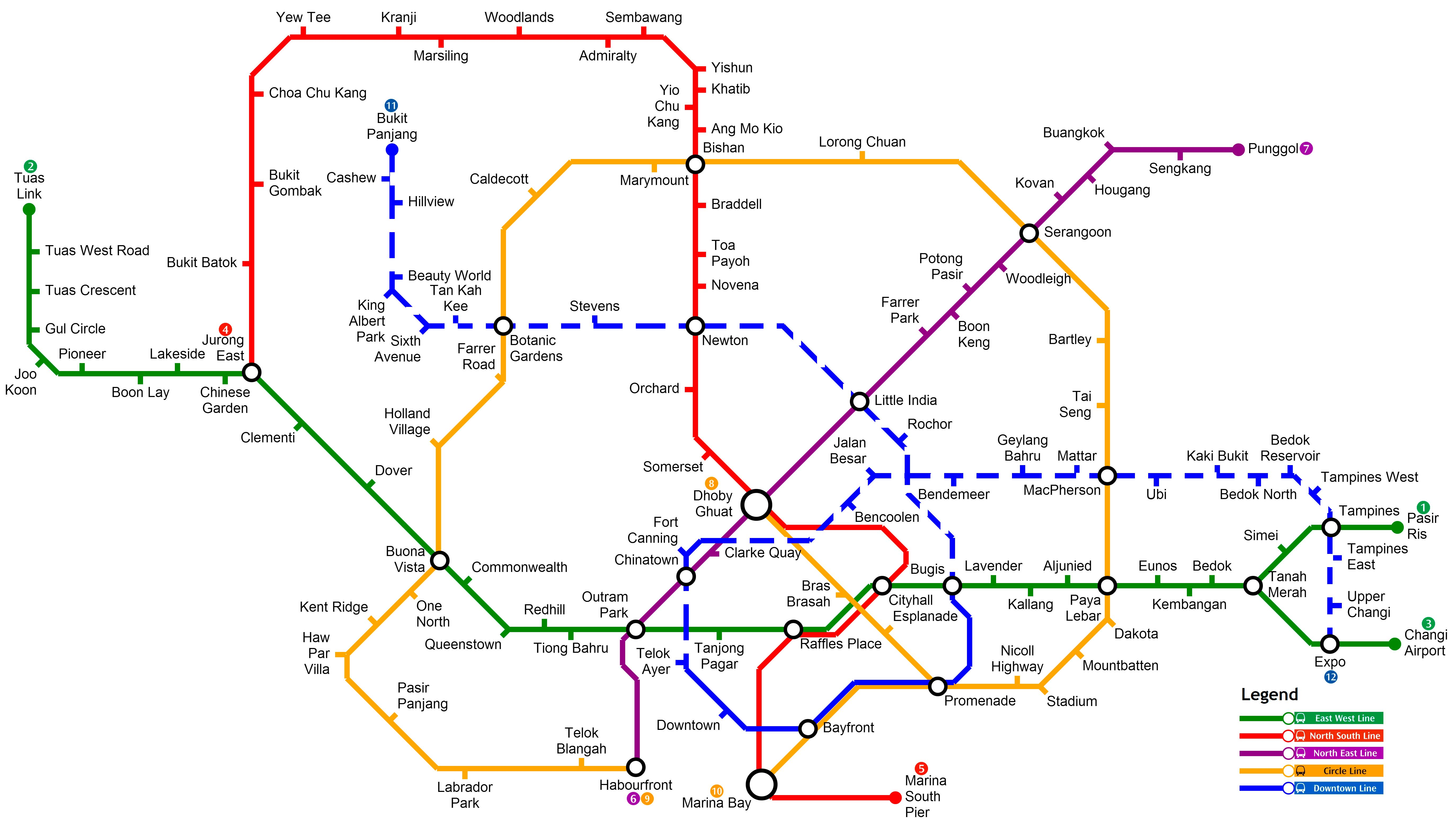 Singapore Subway Map 2014.Validation And Simulation Based Training Environment For The