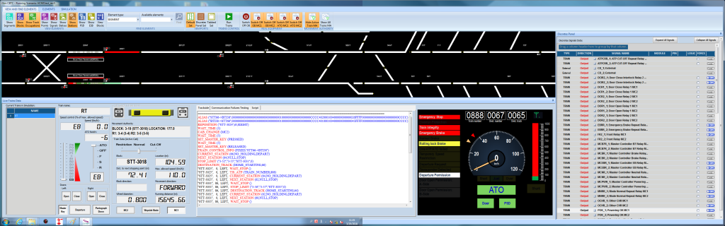 Simulation environment to validate Hitachi's on-board CBTC equipment for Line 1 of the Ho Chi Minh city Metro