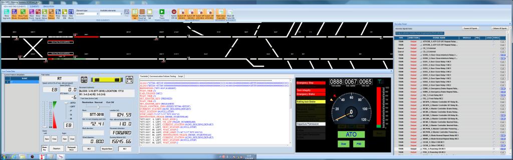 Entorno de simulación para la validación para equipos embarcados CBTC de Hitachi de la Línea 1 del Metro de Ho Chi Minh
