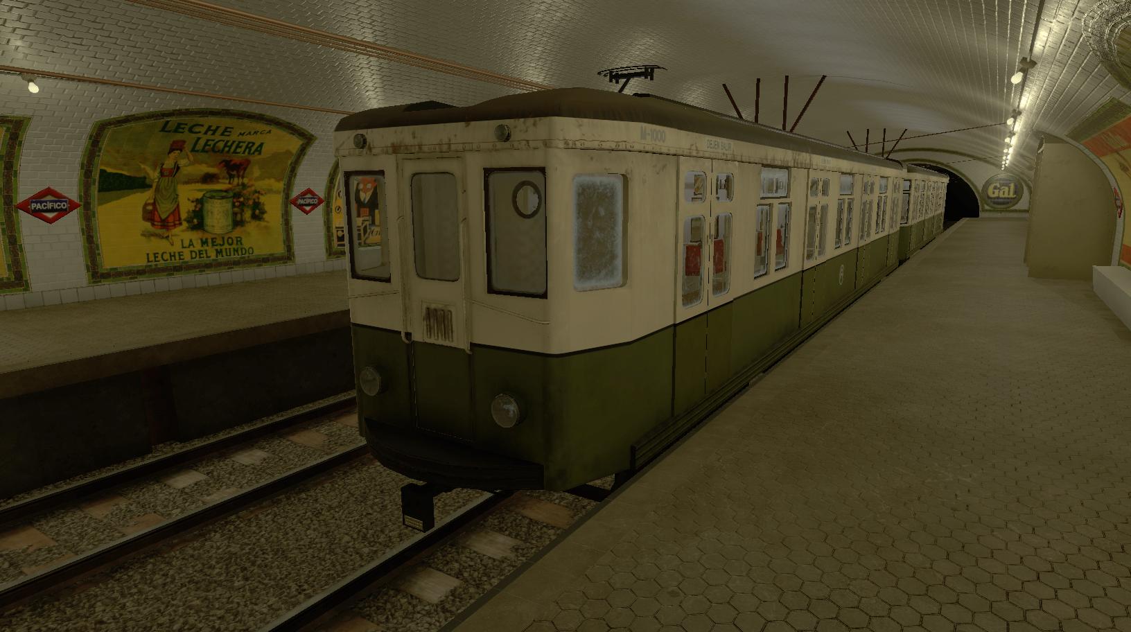 Simulación trenes clásicos para Metro Madrid - M1000 Pacifico