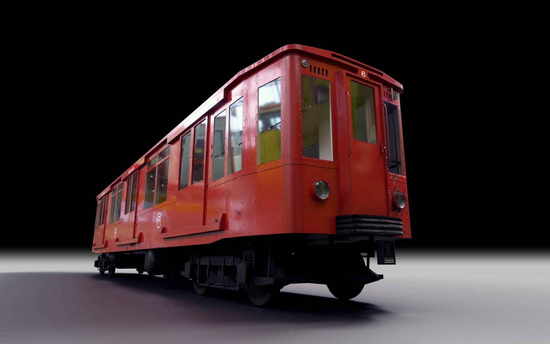 Simulación trenes clásicos para Metro Madrid - M6 studio