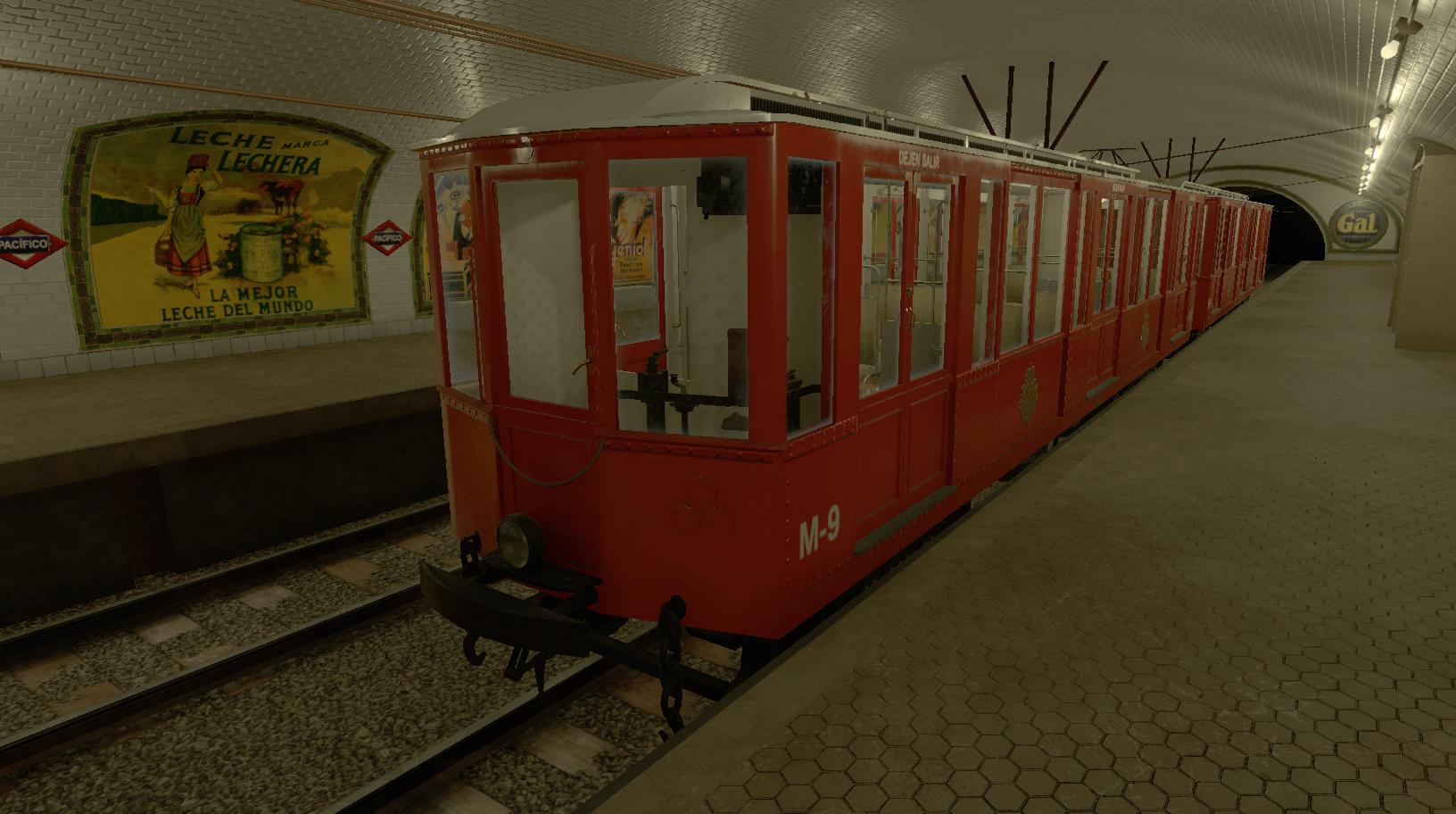 Simulación trenes clásicos para Metro Madrid - M9 Cochera