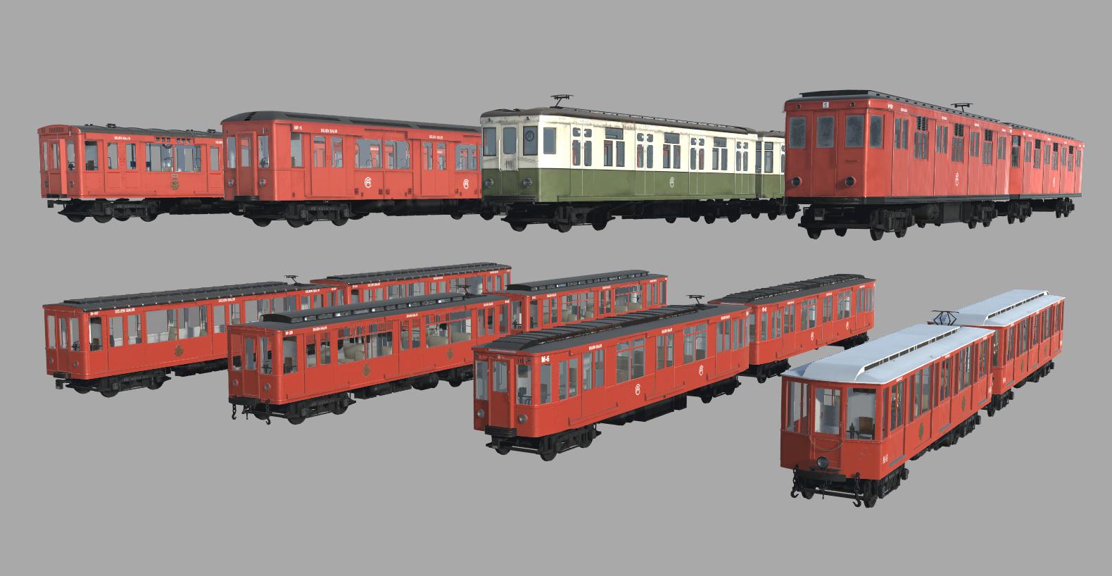 Simulación trenes clásicos para Metro Madrid - Trenes Clasicos composicion
